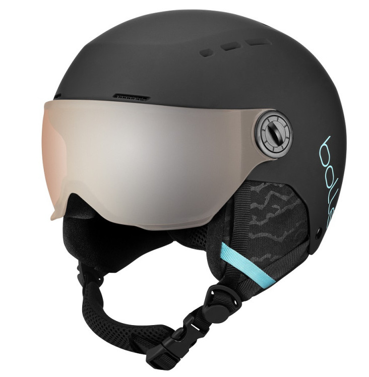 quiz visor matte black blue