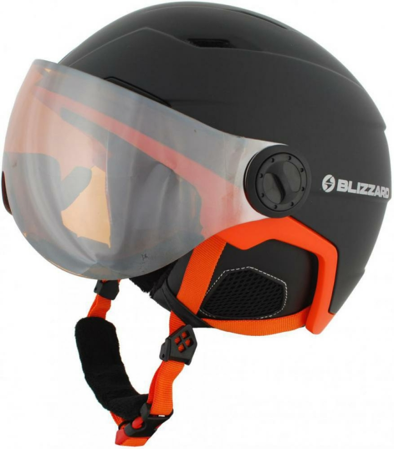 double visor black matt neon orange