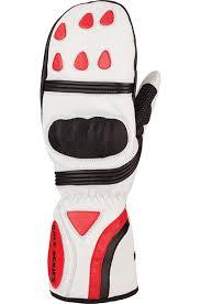 auclair powerline mitt gloves white red