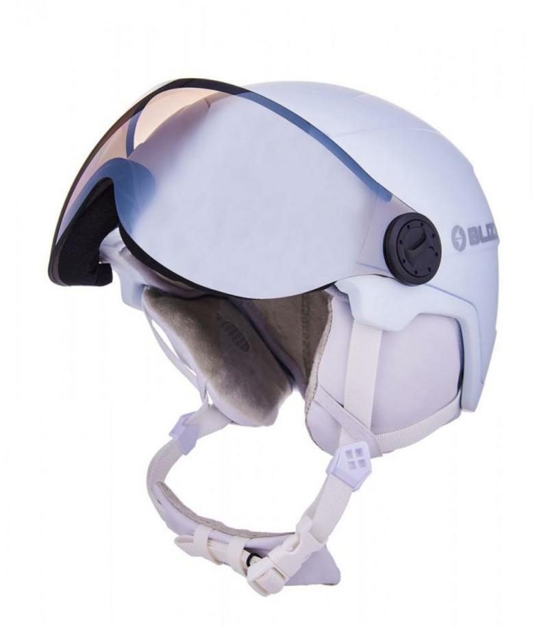 viva double visor white silver 1