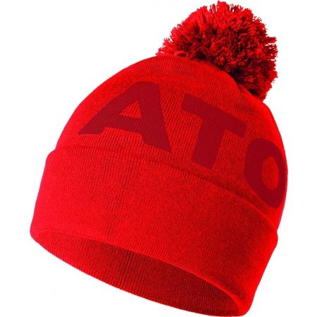 atomic alps pom beanie red